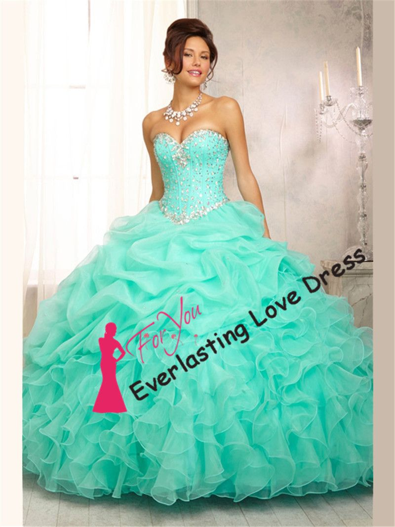 Find More Quinceanera Dresses Information about Amiable Sweetheart Beading Bodice Ruffled Organza Mint Color Quinceanera Dress vestidos para debutantes vestido 15 anos,High Quality dress multiply,China dress id Suppliers, Cheap vestidos casuales from Tiandihaoqing wedding dress on Aliexpress.com