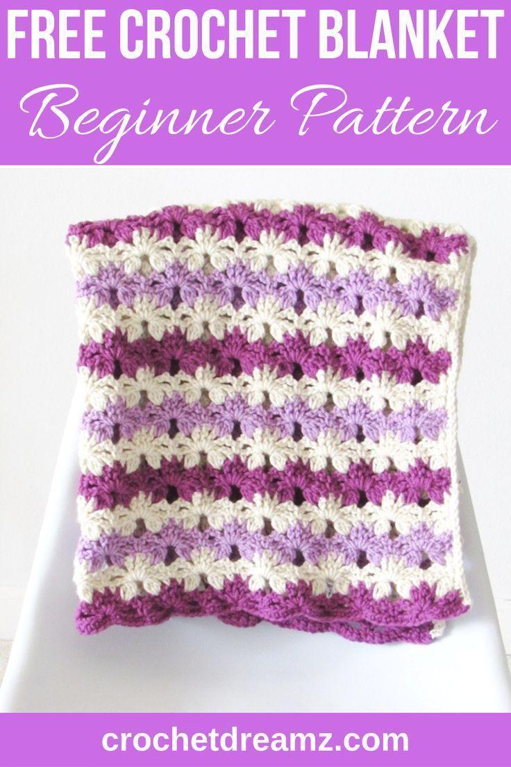Crochet Blanket for Baby- Takes Just 6 Hours - Crochet Dreamz #babyblanket D… in 2020   Baby ...