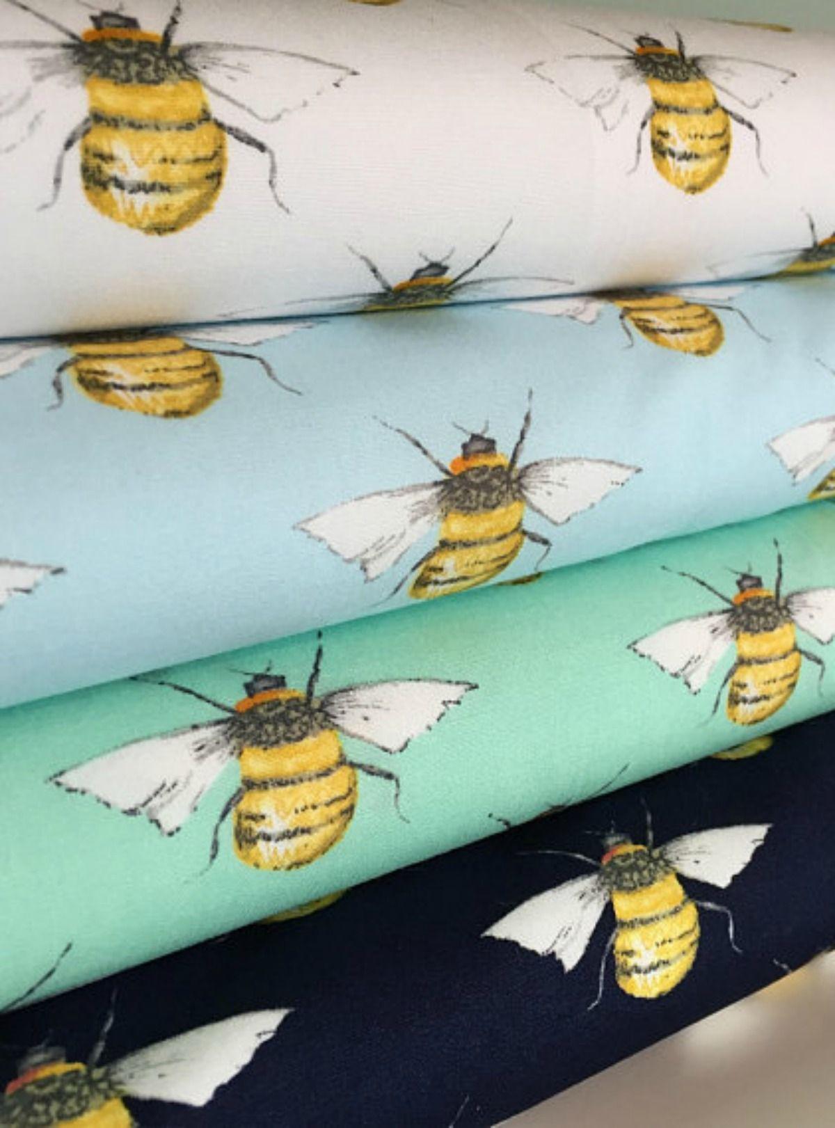 Bumble Bee 100% Cotton Poplin Fabric, Honey Bee Cotton Material ...