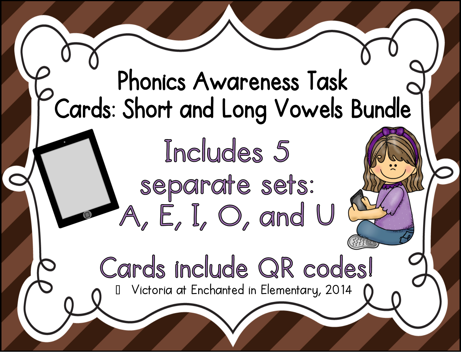 Phonics Task Cards Bundle Of 5 Short And Long Vowel Sets