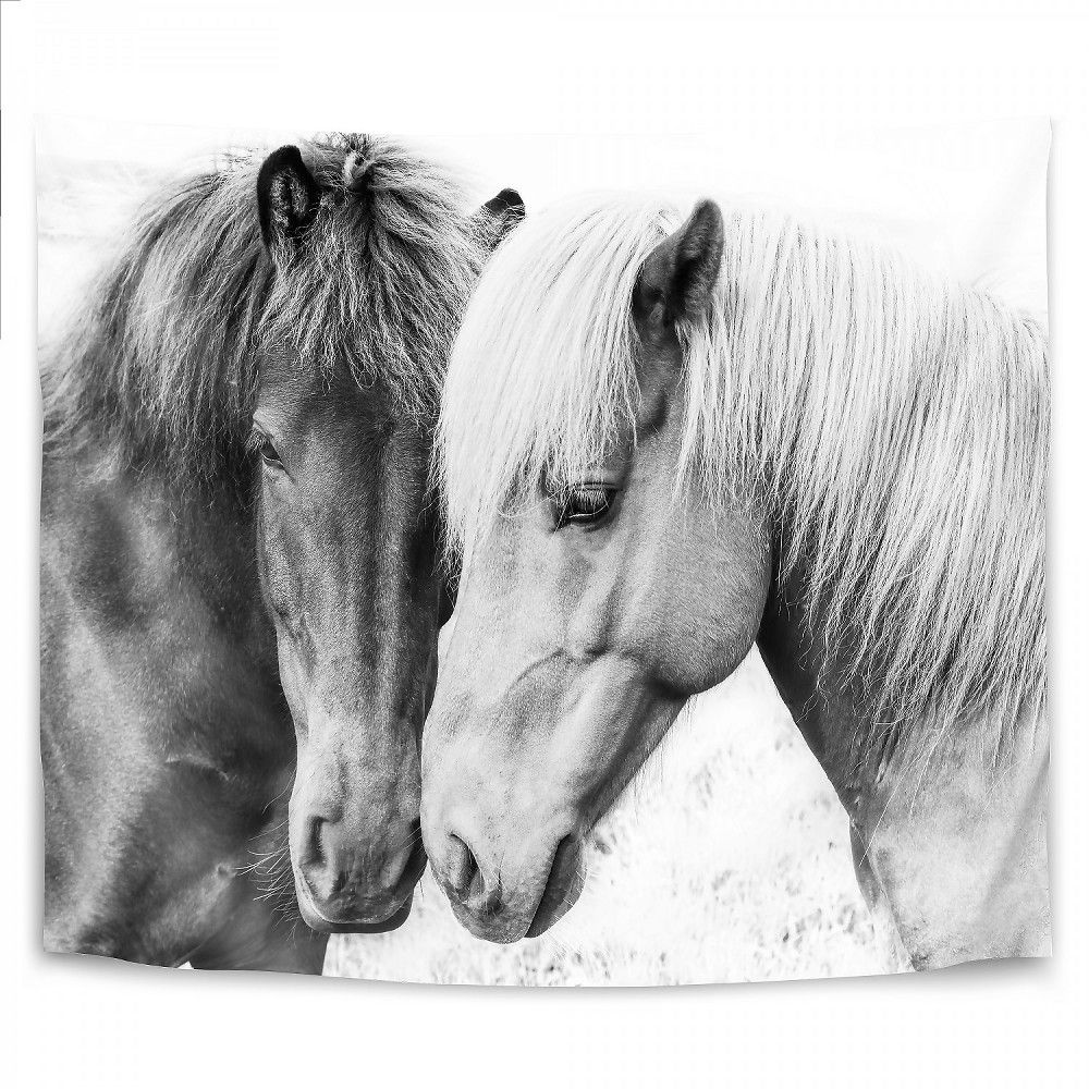 Americanflat Horse Love By Sisi And Seb 26 X36 Wall Tapestry In 2021 Love Wall Art Love Canvas Horse Love