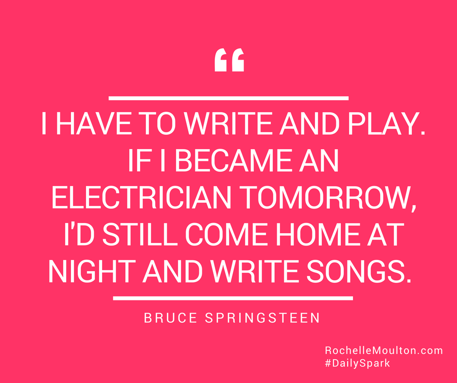 Daily Spark Songwriting, Songs, Bruce springsteen