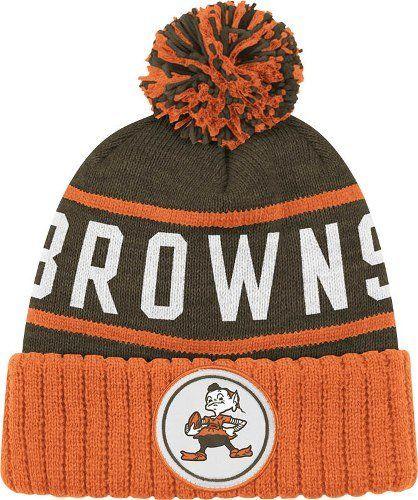 2b4b63dec Cleveland Browns Mitchell Ness NFL High 5 Cuffed Knit Hat w Pom ...