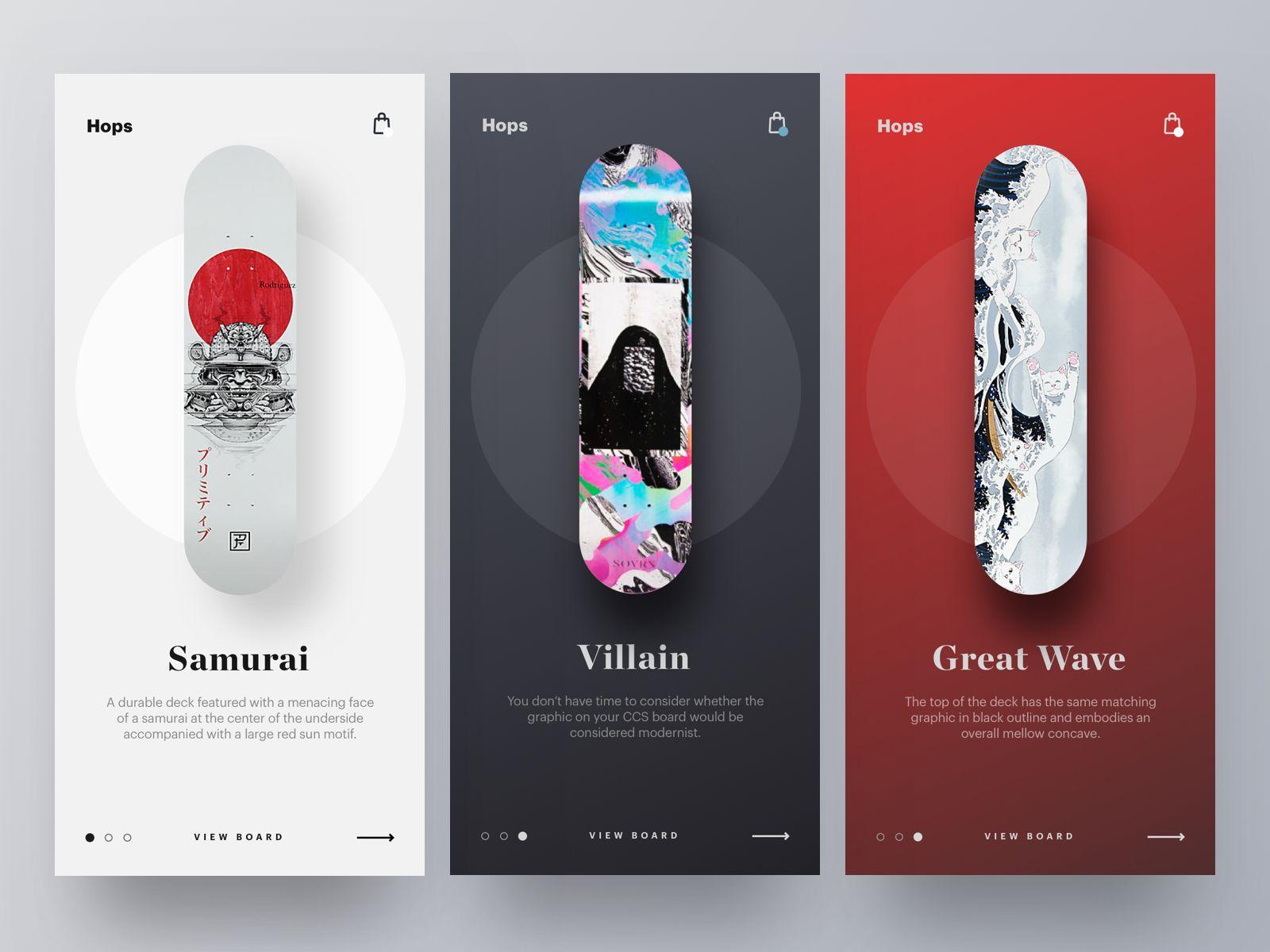 Skateboard Decks Options Mobile Application Design Skateboard Design Banner Ads Design