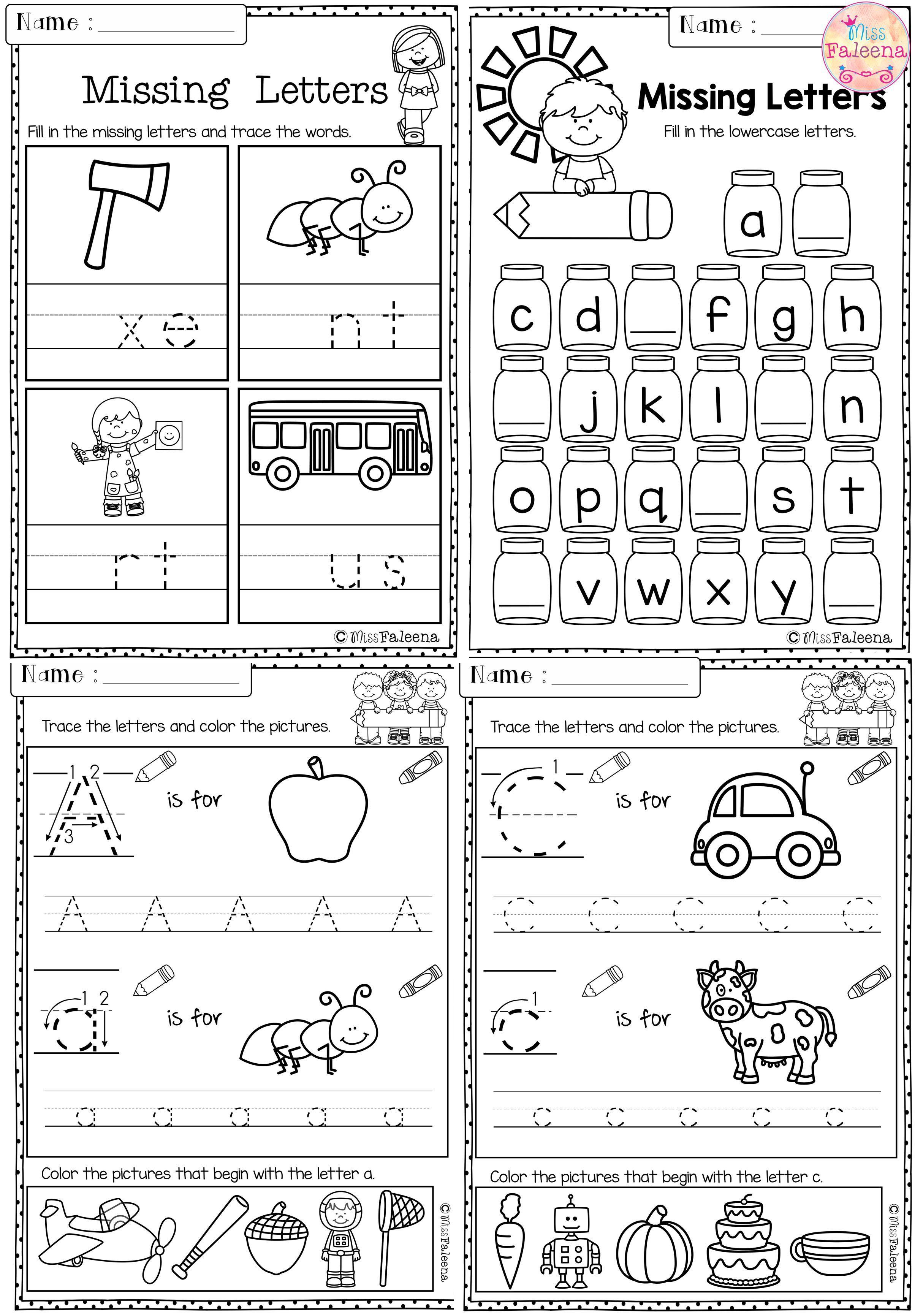 Kindergarten Morning Work Set 1