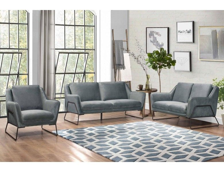 Hayden Modern Sofa Gray Fabric Grey Furniture Living Room Modern Grey Sofa Luxury Home Furniture