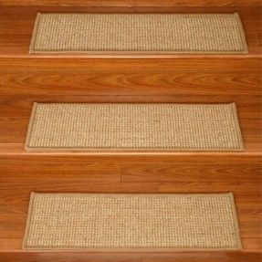 Walmart: Natural Area Rugs Soho Carpet Stair Tread (Set Of