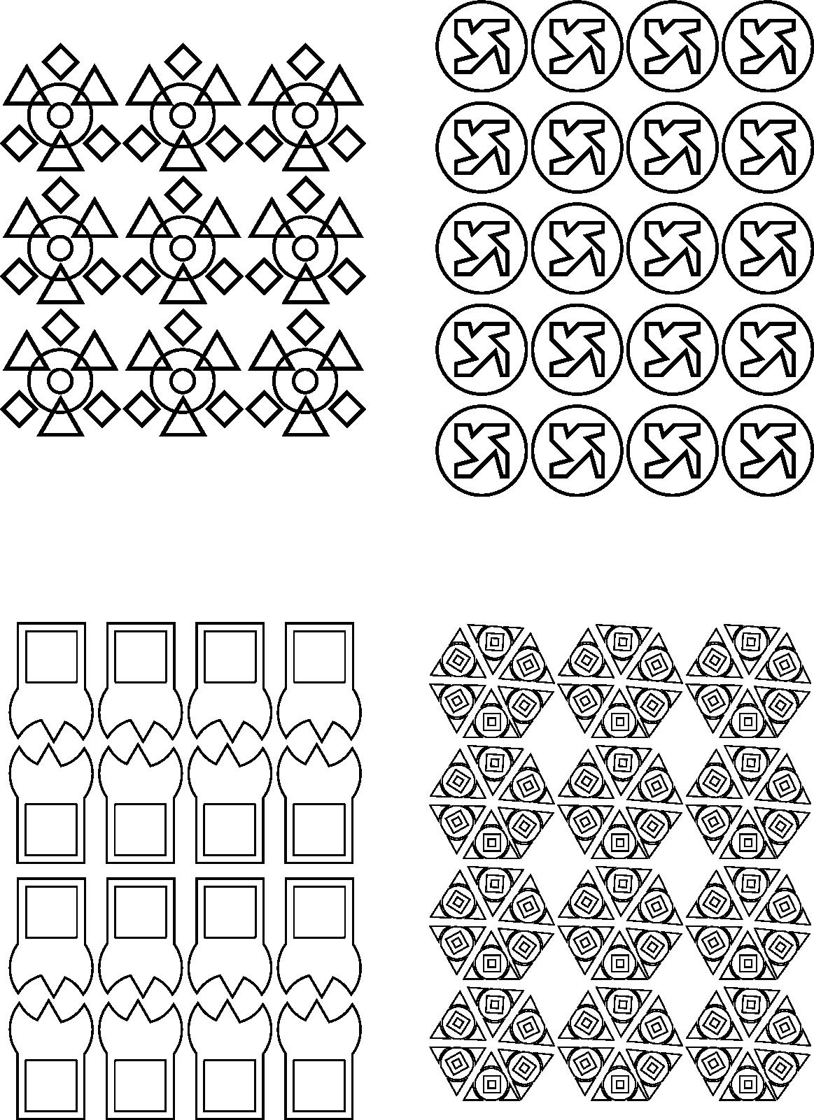 4 Texturas Con Todo Linea Triangulo Cuadrado Y Circulos Texturas Visuales Texturas Superposiciones