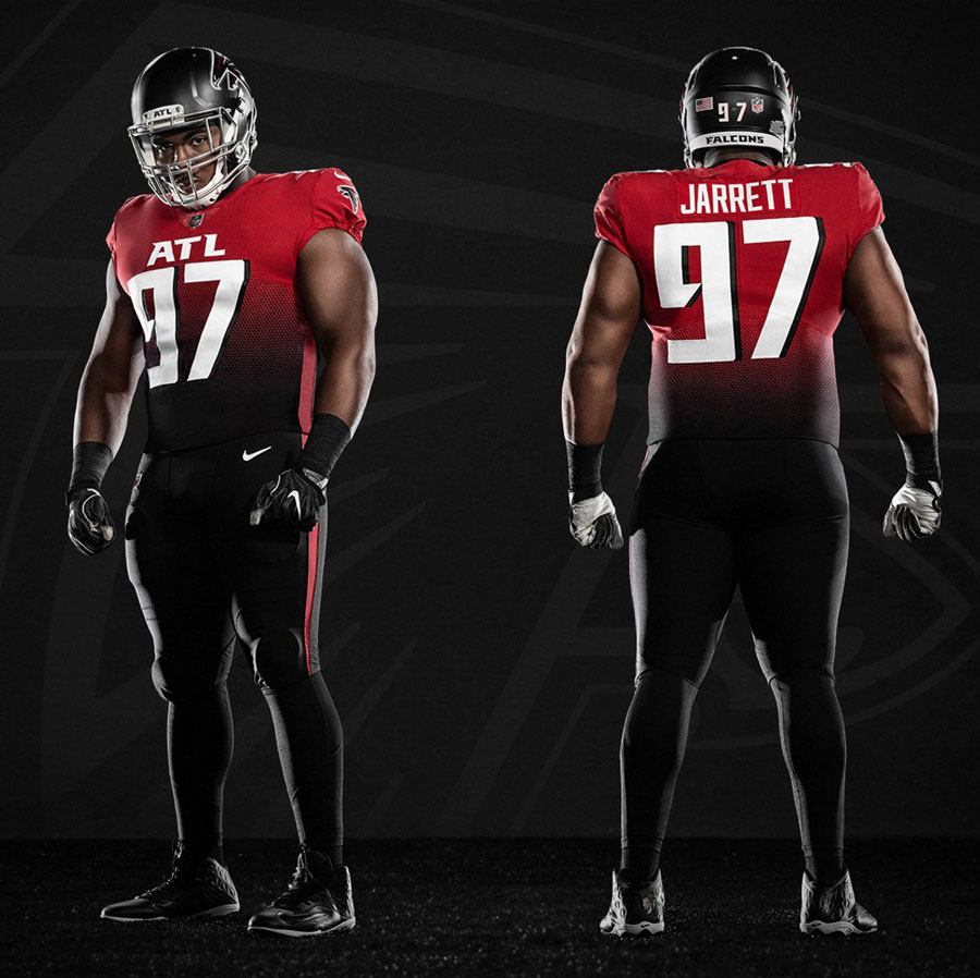 Back In Black A Brief Look At Atlanta Falcons Uniforms Throughout The Decades Back To Black Atlanta Falcons Football