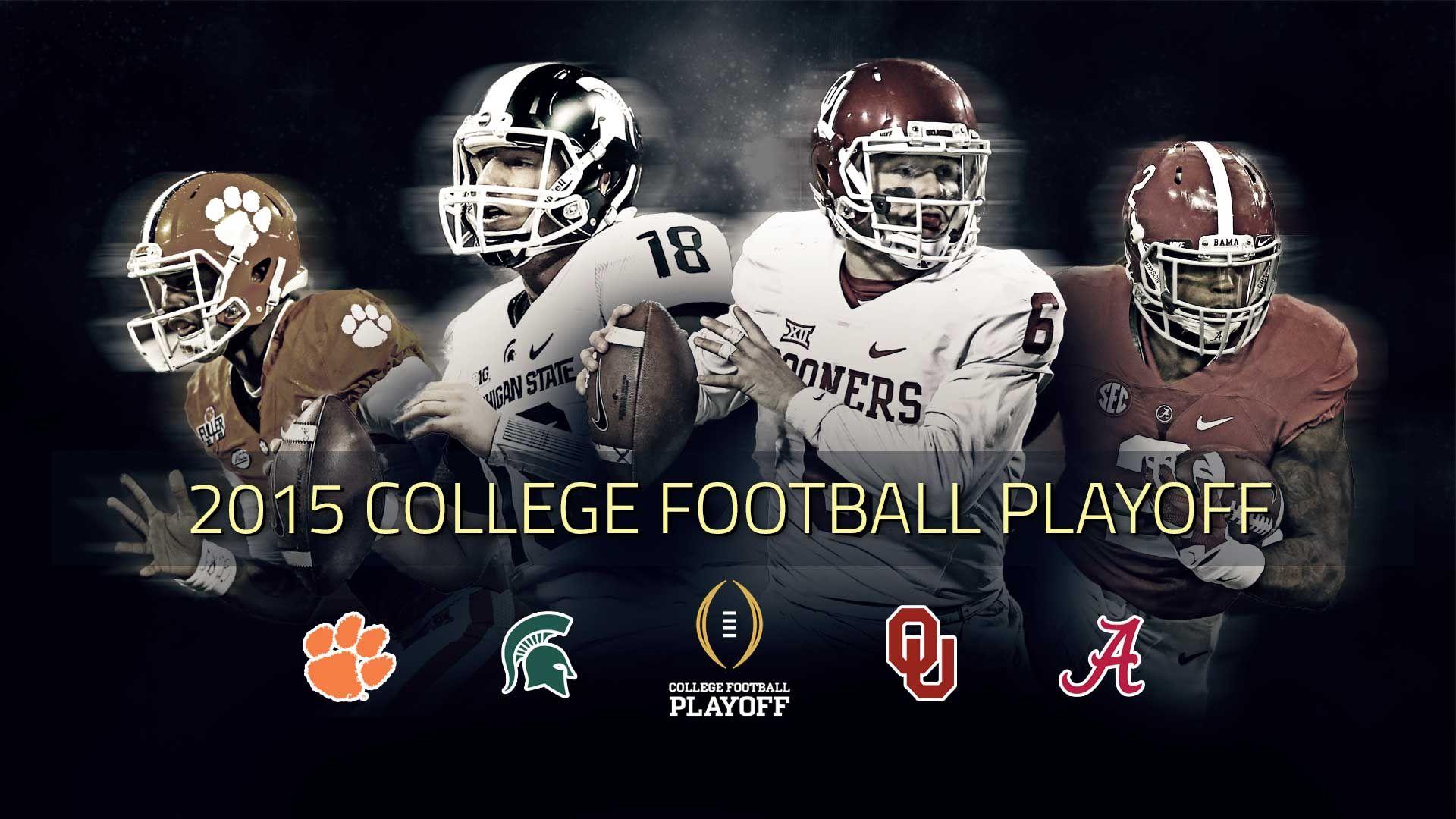 College Football Playoff Semifinals Set With Clemson Alabama Michigan St Oklahoma College Football Playoff College Football Michigan State Football