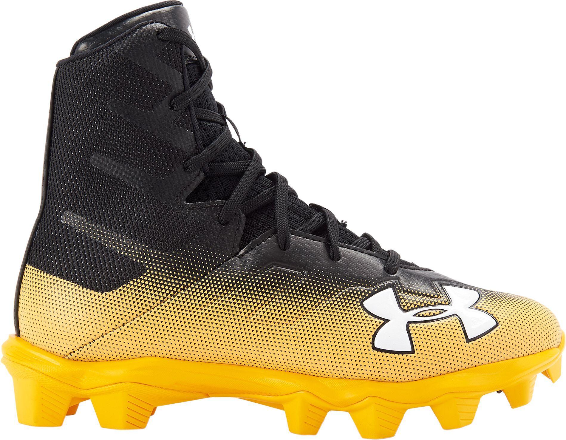 7b9f9b5b6c0f Under Armour Kids' Highlight RM Football Cleats, Size: 3.5, Black
