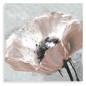Fleur Blanche Tableau Deco Toile Peinte 90x90 Dgi Peintures
