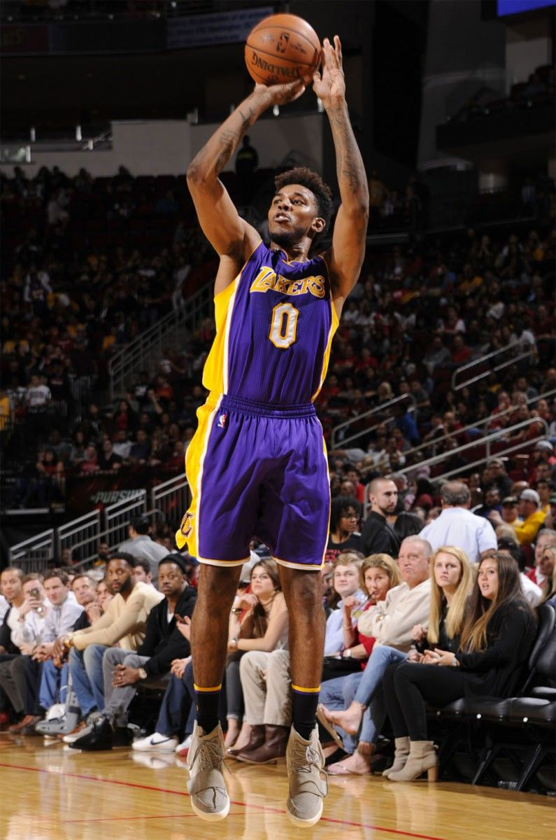 8258da7e7c3 Nick Young from the Los Angeles Lakers is the first player in the NBA to go  on court with the adidas YEEZY Boost 750