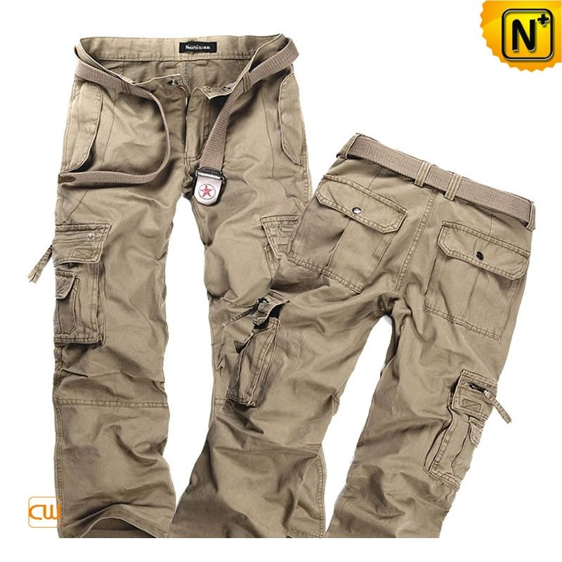 Designer Long Cargo Pants for Men CW140288 Our designer loose fit long cargo  pants for men crafted from 100% cotton garment washed material 80741ece0f9d
