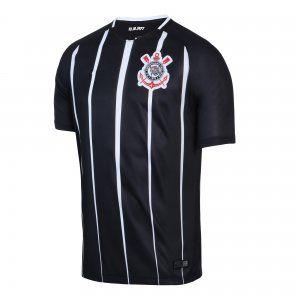 225a55da6 SC Corinthians 2017-18 Season Away Black Shirt Jersey  K107