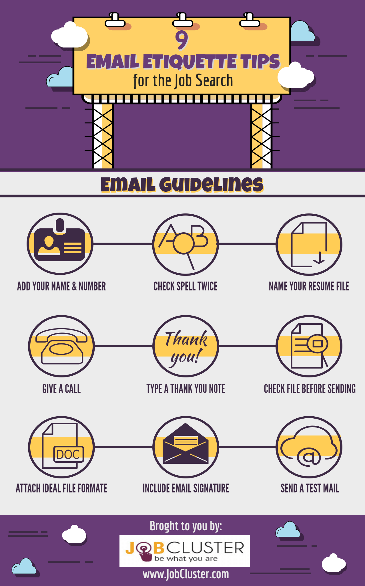 Email Etiquette Tips for Job Seekers Infographic (With