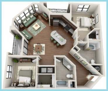 60 Ideas Apartment Layout Ideas Floor Plans Living Spaces #apartmentfloorplans