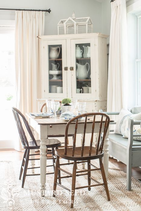 Maddy And Summer  French Country Farmhouse  Pinterest  Mustard Captivating Miss Mustard Seed Dining Room Decorating Design