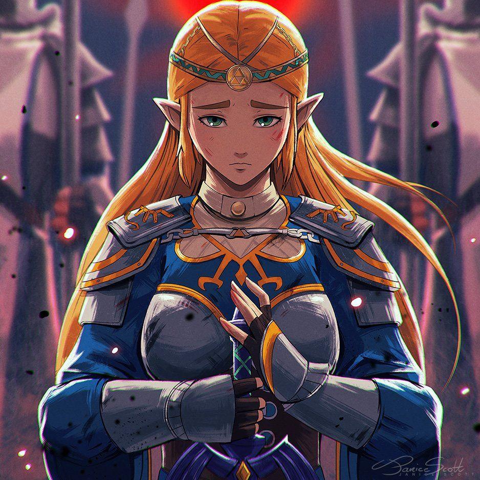 Jas On Twitter Zelda Last Stand Breathofthewild Fan Art Piece Legend Of Zelda Legend Of Zelda Breath Princess Zelda