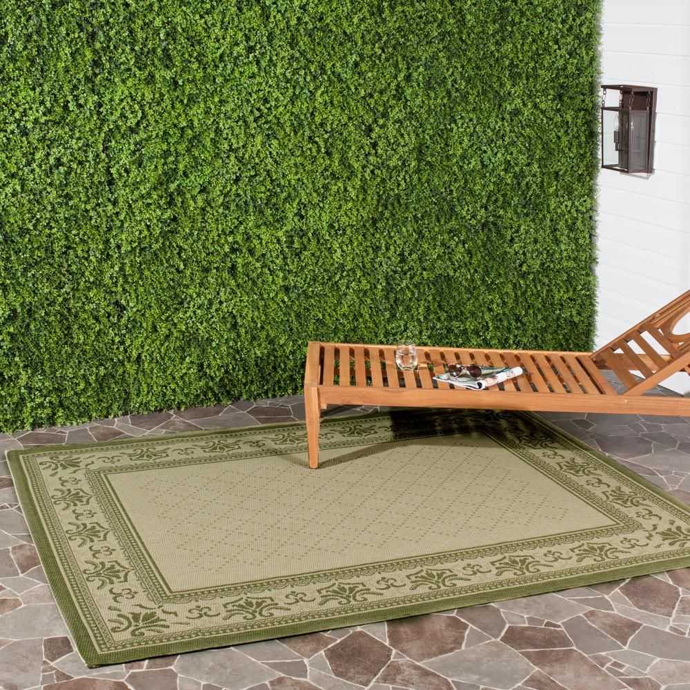 Safavieh Courtyard Natural Olive 9 Ft X 12 Ft Indoor Outdoor Area Rug Outdoor Area Rugs Indoor Outdoor Area Rugs Outdoor Rugs