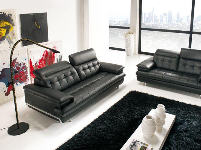 Maisonu0026Déco Vous Propose Ses Idées Déco Et Ses Astuces Pour Vous Créer Un Salon  Noir Et