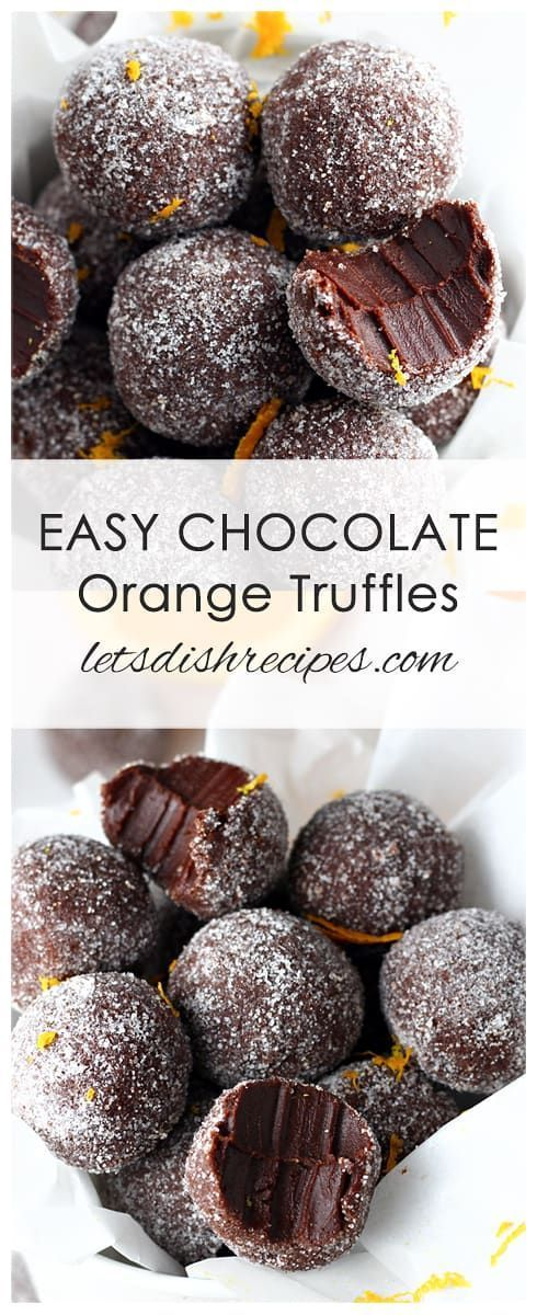 Easy Chocolate Orange Truffles: Dark chocolate and orange oil combine in these rich decadent truffles. With only four ingredients, you won't believe how easy they are to make!