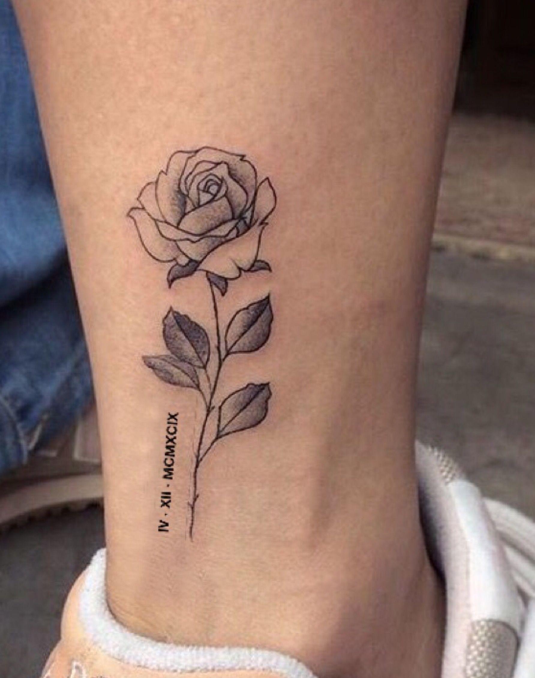 04 12 1999 Tattoo Tatouage Tatouage Rose Tatouage Femme
