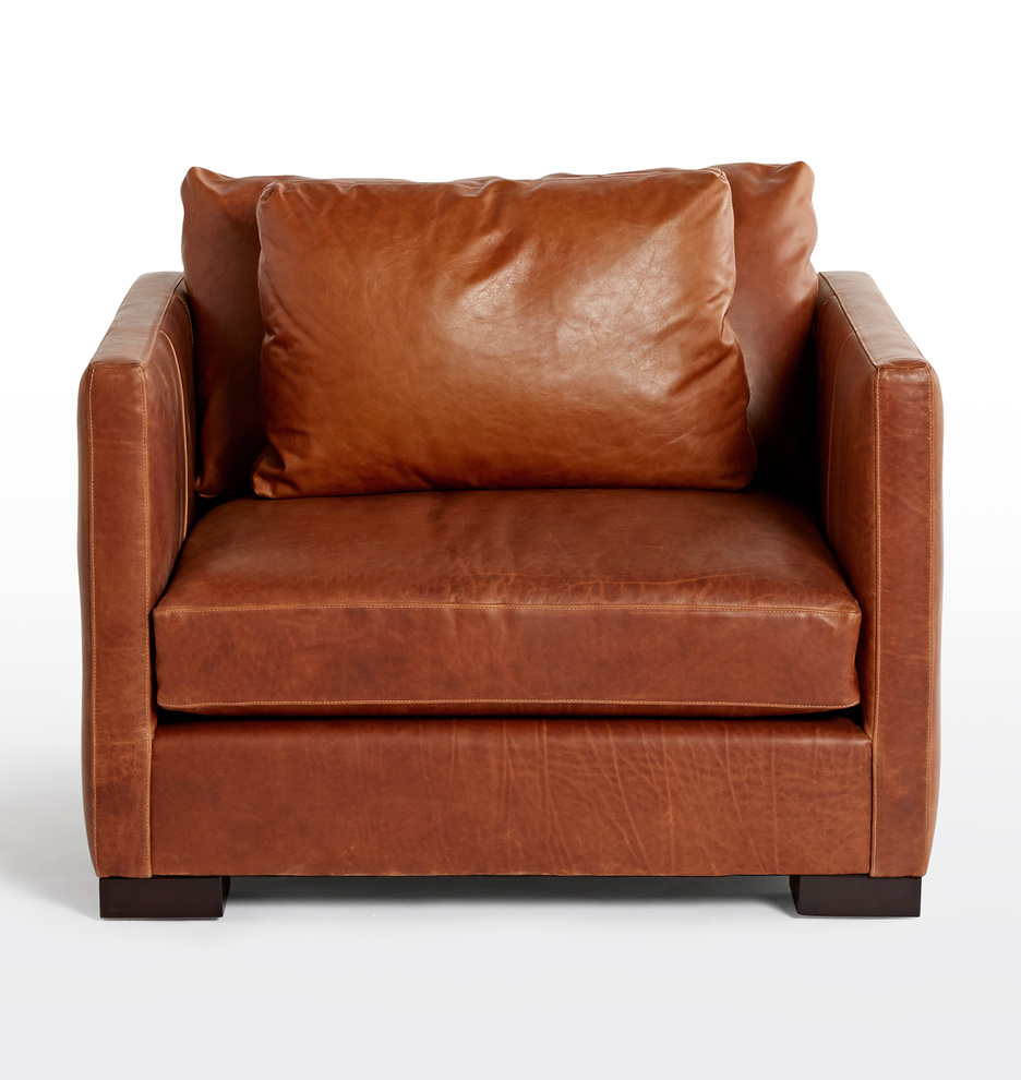 Wrenton Leather ChairandaHalf Leather chair, Chair