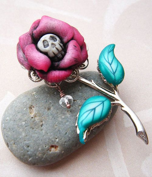 Artful Halloween Polymer Clay Jewelry by Marie Segal ~ The Beading Gem's Journal