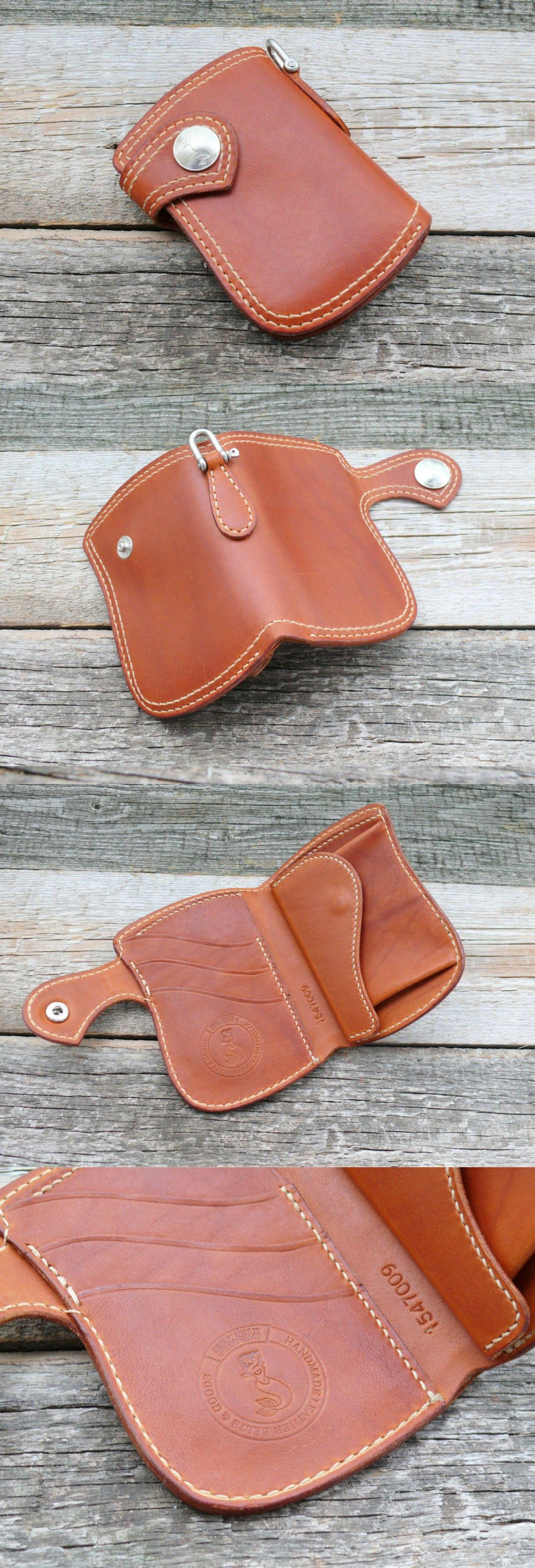 Krysl Goods HANDMADE WALLET VZ.63 BIFOLD VEGETABLE TAN MEDIUM #leatherwallets