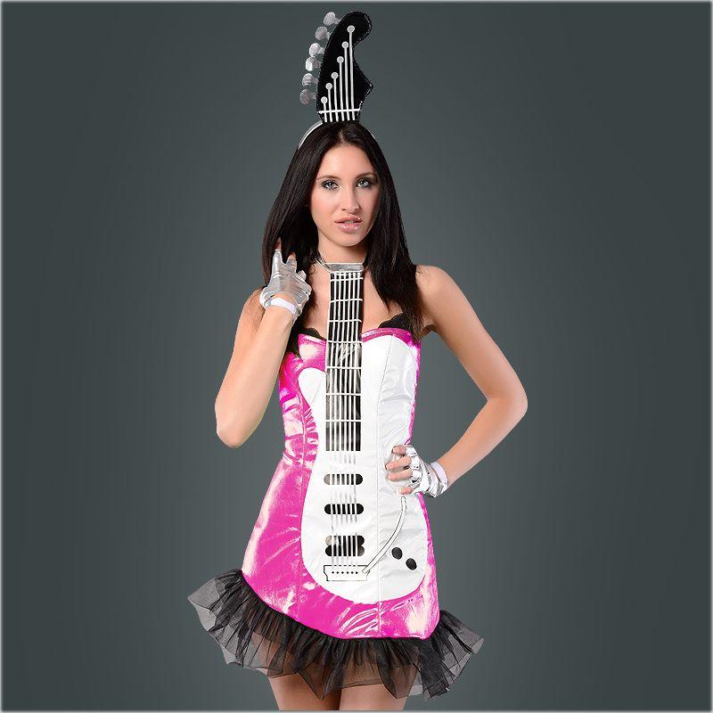 Sexy Gitarren Kostüm für Damen - Karneval wird heiß! Guitar Costume...