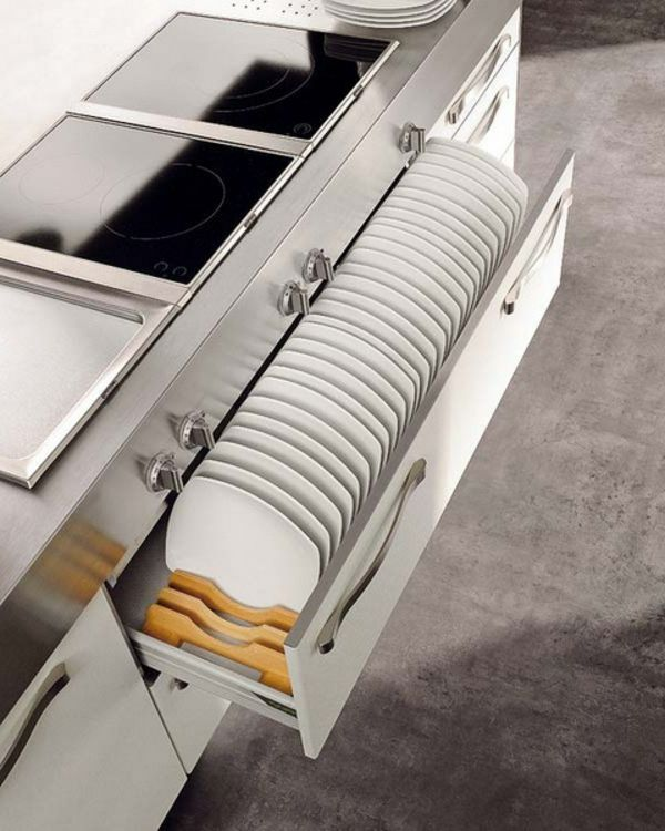 küche kochherd teller platz praktische Ideen Organization - organisation kuchen schubladen