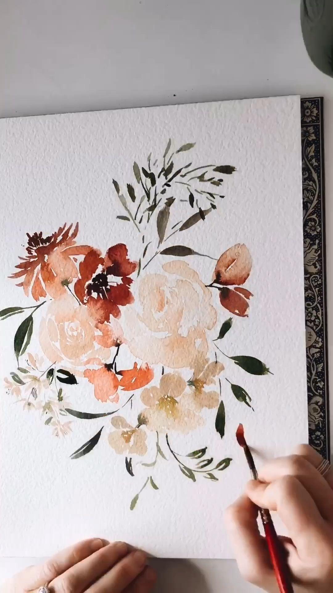 Photo of Looks Aquarell Blumen von Leah Bisch Studio,  #aquarell #Bisch #Blumen #kunstaquarell #Leah #…