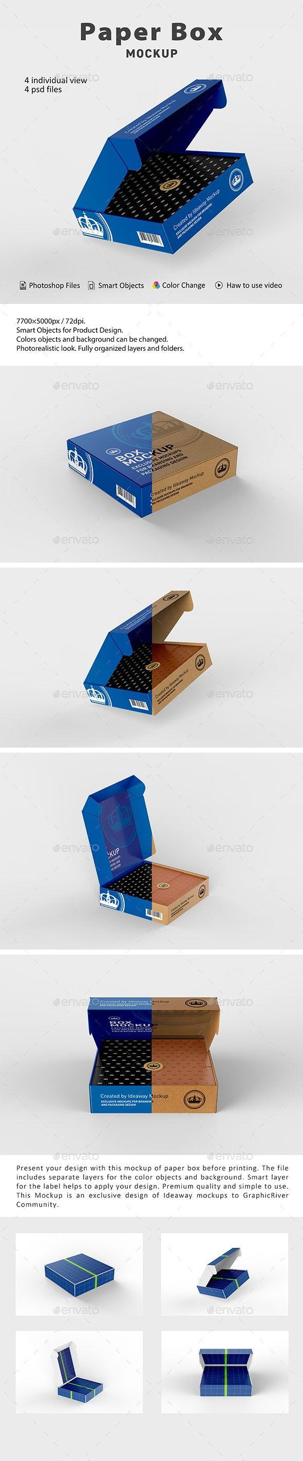 Download Paper Box Mockup Box Mockup Paper Box Mockup