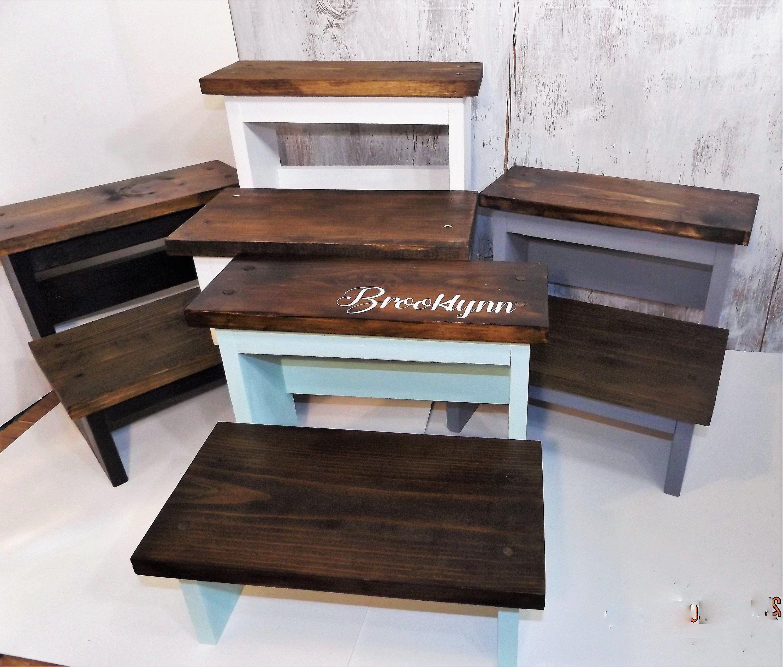 Fabulous Personalized Wood Step Stool Kids Wooden Stool Heavy Duty Customarchery Wood Chair Design Ideas Customarcherynet