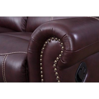 Super Lorenzo 2Pc Top Grain Leather Reclining Sofa And Loveseat Bralicious Painted Fabric Chair Ideas Braliciousco