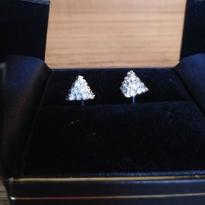 I just discovered this while shopping on Poshmark: Pavé Pyramid Studs. Check it out!  Size: OS
