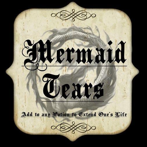 Mermaid Tears Label Attachment 131678 Vintage Bottles
