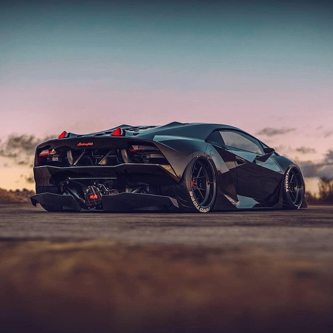 "Photo of Blacklist Lifestyle   Cars on Instagram: ""Slammed Sesto Elemento! 👍 or 👎?   Design by @the_kyza   #blacklist #lamborghini #sestoelemento"""