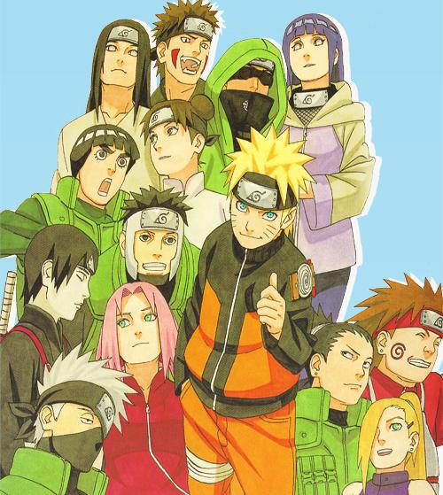 Naruto Sakura Sasuke Shikamaru Ino Choji Kiba: Errbody