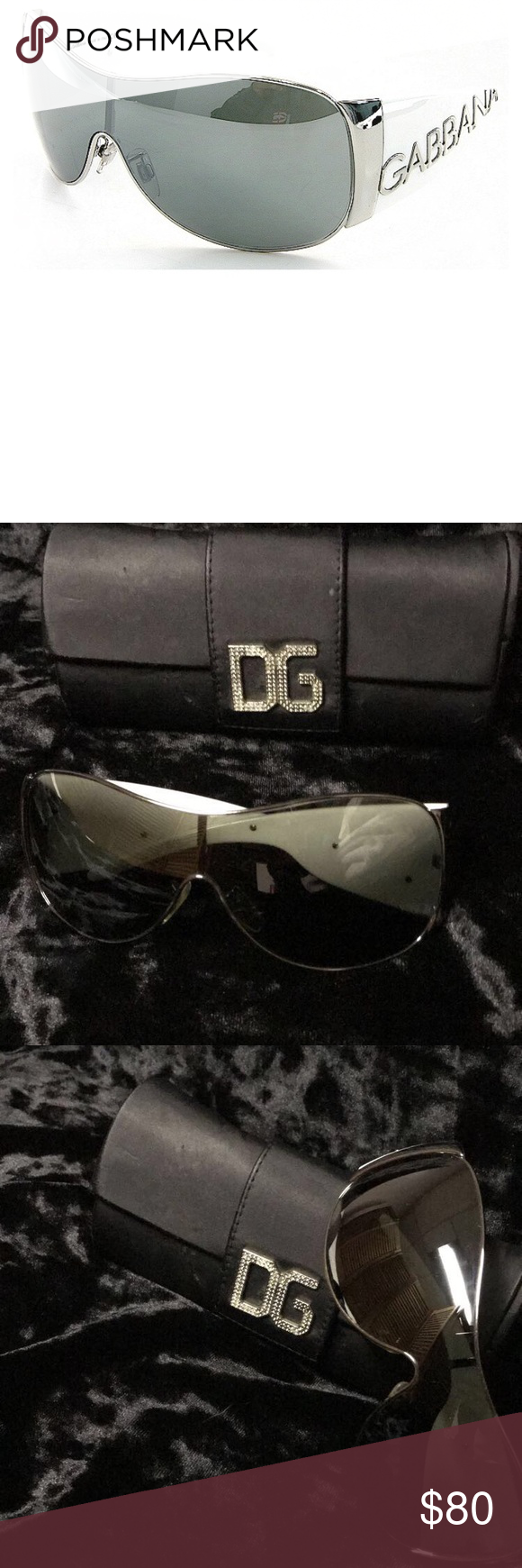 07ba2556575f Authentic Dolce   Gabbana Sunglasses Vintage Aviators Style DG 2005 05 6g  120 Made in Italy 🇮🇹 Comes with case Few light scratches