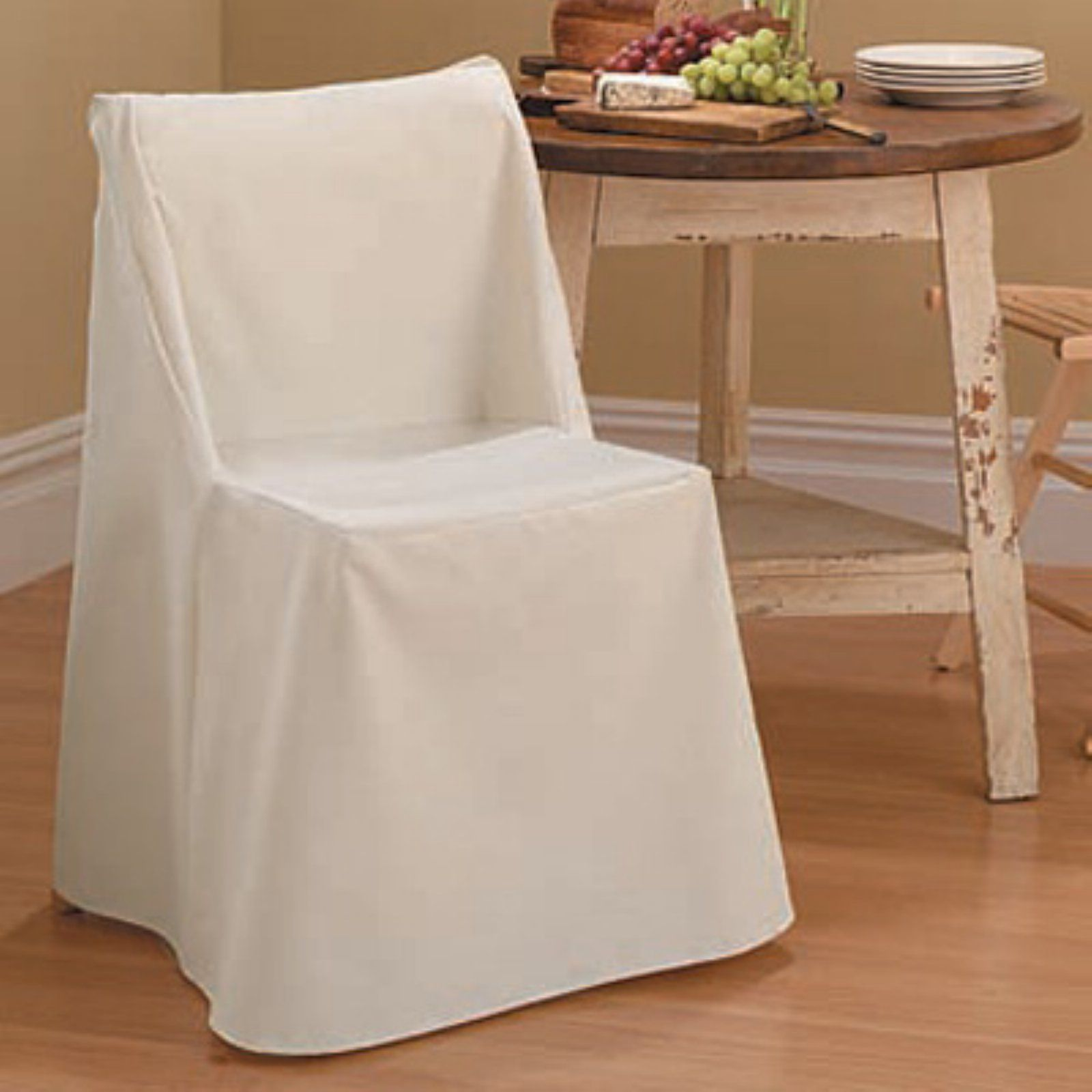 Remarkable Sure Fit Cotton Duck Folding Chair Cover Natural Products Andrewgaddart Wooden Chair Designs For Living Room Andrewgaddartcom