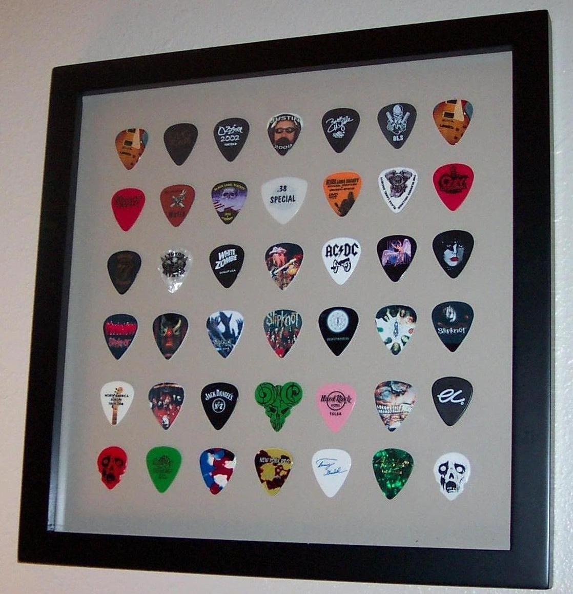 Guitar Picks Display | Guitar things | Pinterest