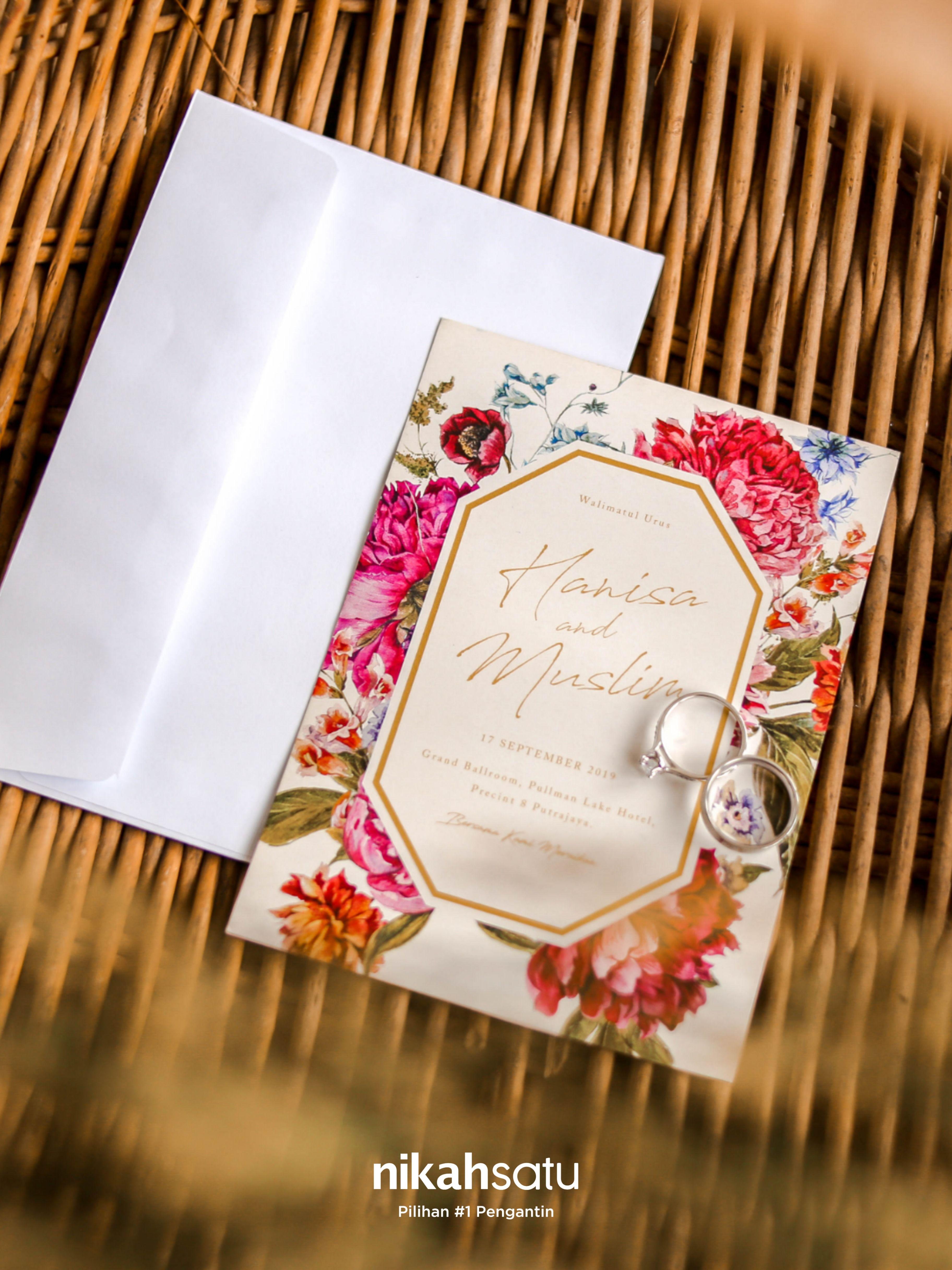 Printed Pakej Standard Digital Card And Premium Function Money Gift Salam Kaut Digital Book Now At Rm1 Only At Nikahsatu Com Undangan Pernikahan Pengantin