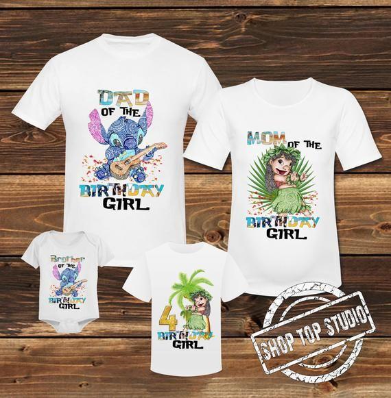 Lilo and Stitch Family Shirt Lilo and Stitch Birthday Family T shirt Lilo and Stitch Birthday Shirt Lilo and Stitch Birthday Girl Shirt #liloandstitch