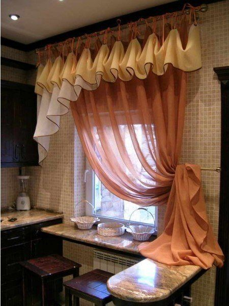 Beautiful pelmet in the kitchen | Crafts | Curtains ...