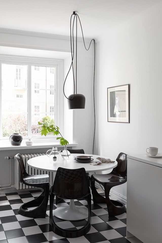 Black, White U0026 Grey In A Perfect Combination. Love Everything About This  Home Of Swedish Interior Stylist Elin Kickén