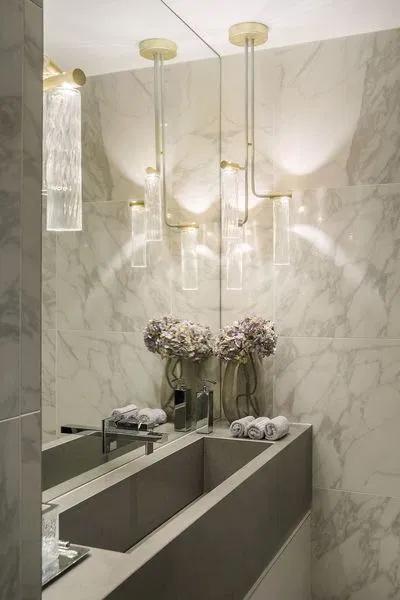 20 Modern Powder Room Design Ideas #modernpowderrooms