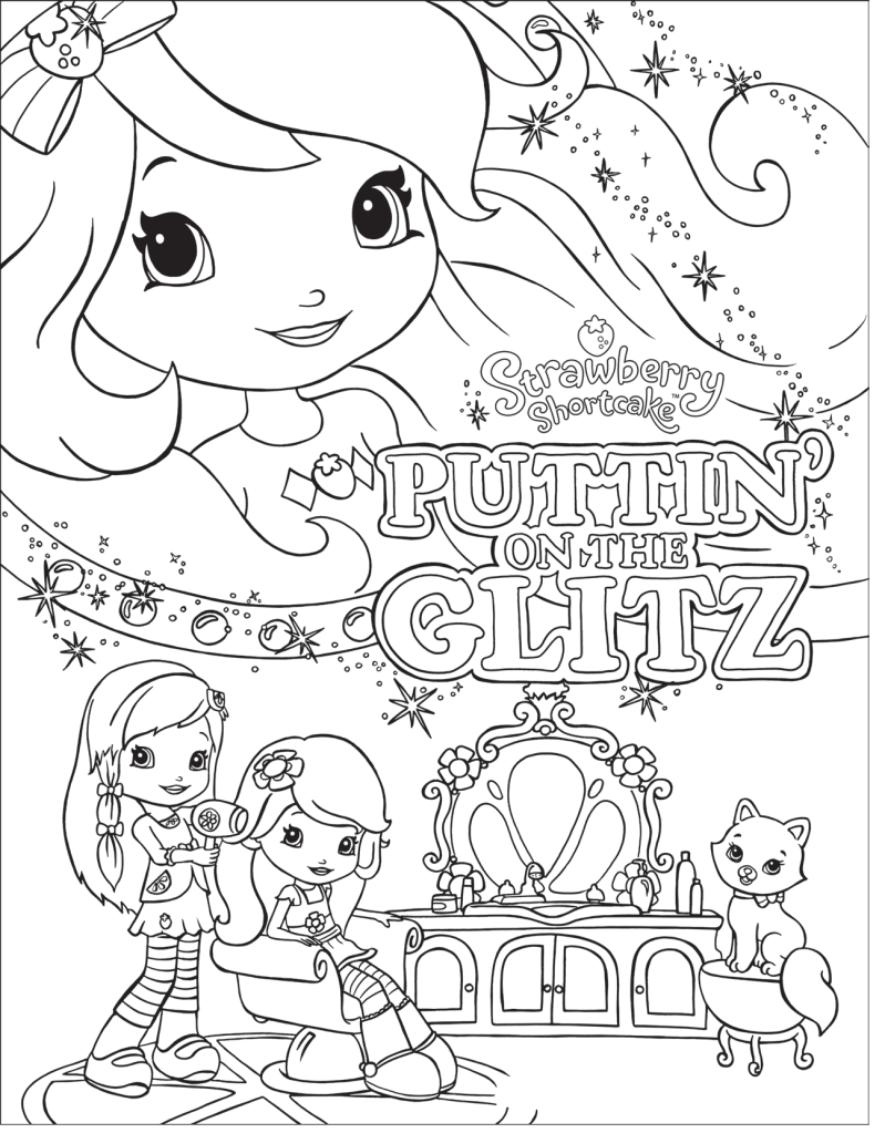 image detail for strawberry shortcake and friends coloring pages