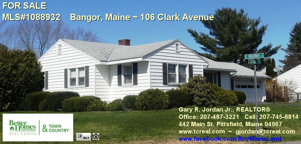 Sold Bangor Maine 106 Clark Avenue Stylish Ranch Home On Sunny Corner Lot In Convenient East Side Neighbor Better Homes And Gardens Ranch House Real Estate